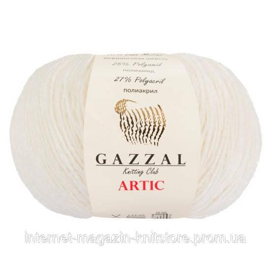 Пряжа Gazzal Artic белый