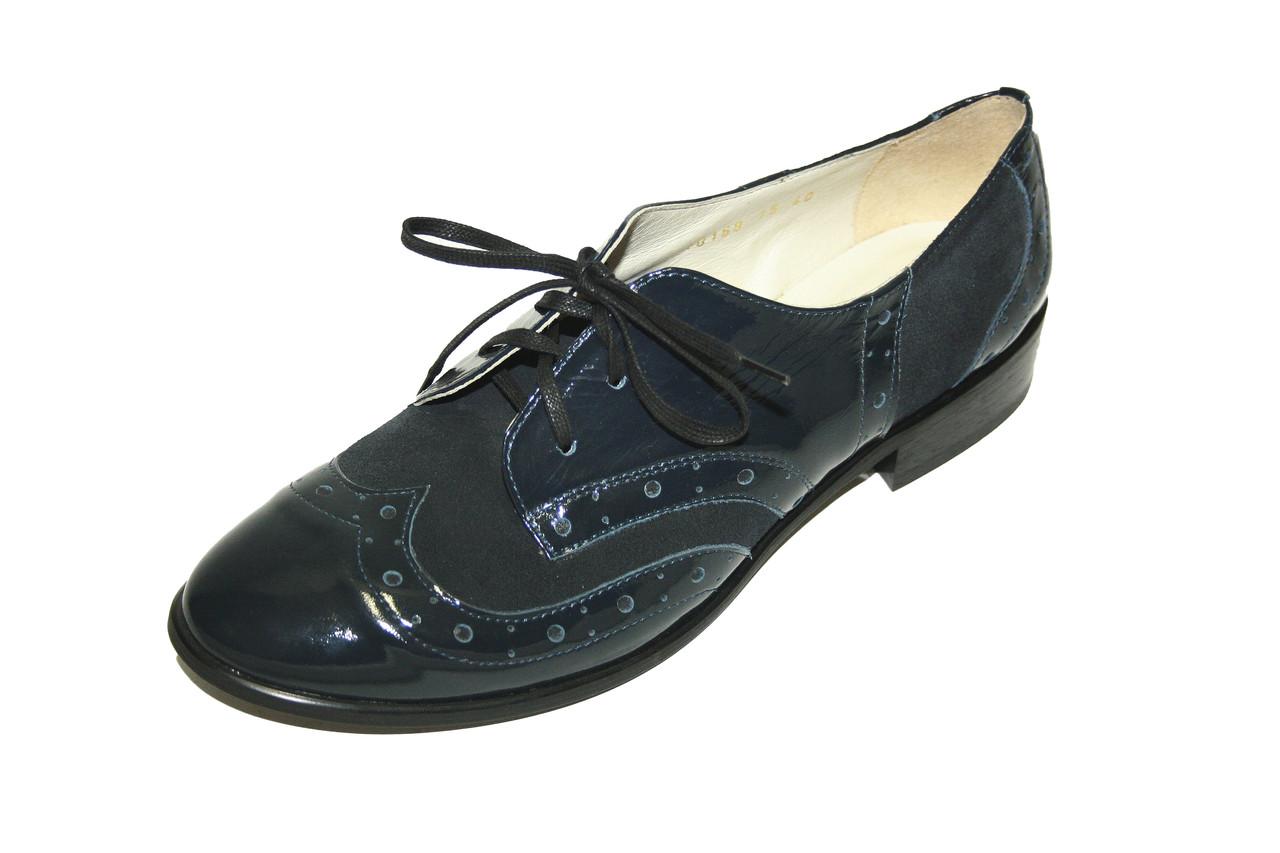 Туфли женские, лакированная кожа с замшей / shoes 10168 - 03 / 05