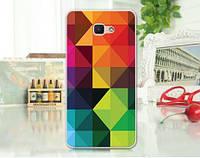 Силиконовый чехол бампер с рисунком для Samsung J7 Prime Galaxy G610