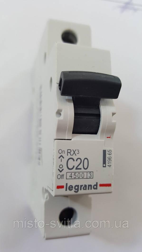 Автоматический выключатель RX3 20А 1п C 4,5кА Legrand Легранд автомат