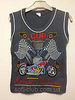 Детская  одежда оптом Майка для мальчиков оптом р.4-8лет, фото 1