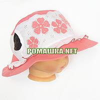 Детская панамка для девочки р. 50-52 ТМ Anika 3624 Коралловый 50