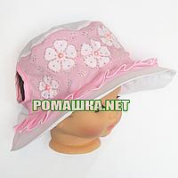 Детская панамка для девочки р. 50-52 ТМ Anika 3624 Белый 50