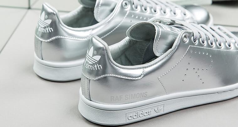 Кроссовки Женские Adidas Raf Simons X Adidas Stan Smith Metallic Silver (в Стиле  Адидас) — в Категории