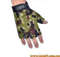 Тактические перчатки без пальцев 5.11 Камуфляж (безпалые, безпалки)