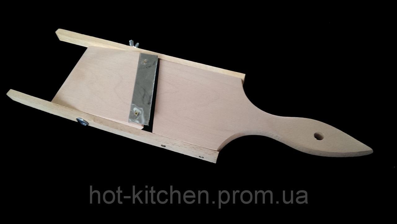 Доска ,шинковка,терка деревянная 12.5*40( Регулируемый зазор толщины нарезки)