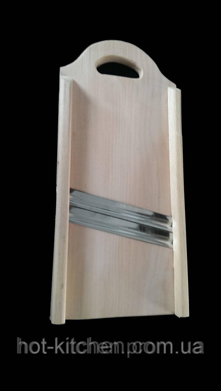 Шинковка деревянная, 2 ребристых лезвия