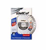 Диск алмазный Wellcut Promo 115мм*7мм*22,23мм Турбоволна