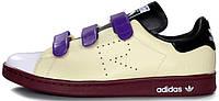 Женские кроссовки Adidas Stan Smith Raf Simons Comfort Cream/Blue/Brown
