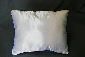 Подушка прямокутник кант синій
