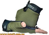 Тактические перчатки без пальцев 5.11 Зеленые (безпалые, безпалки)