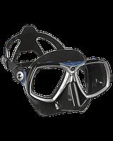 Маска для снорклинга AquaLung Look 2; чёрно-синяя Аквалунг лук2