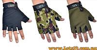 Тактические перчатки без пальцев 5.11 Зеленые (безпалые, безпалки) L