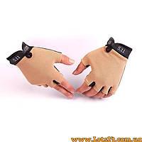 Тактические перчатки без пальцев 5.11 Песок (безпалые, безпалки) L