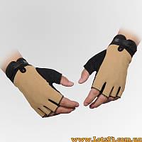Тактические перчатки без пальцев 5.11 Песок (безпалые, безпалки) XL