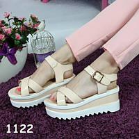 Босоножки женские цвет пудра на высокой платформе, балетки, женская летняя обувь