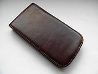 Качественный чехол-пенал на Ваш samsung i9000 раскладной коричневый