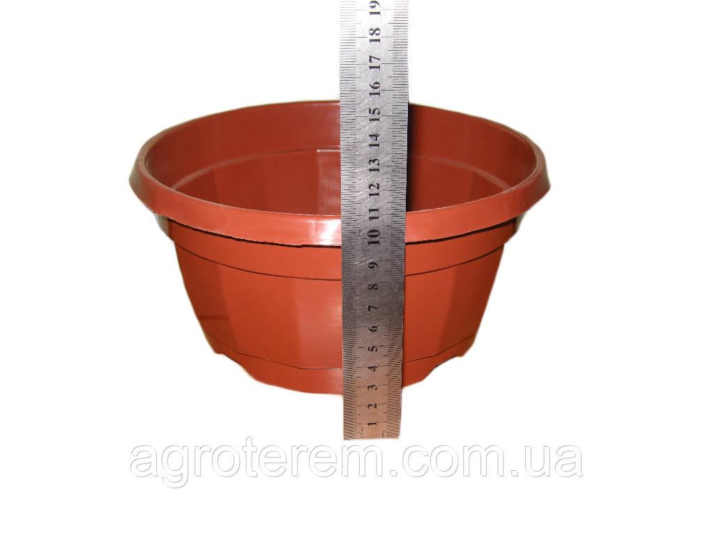 Миска круглая для растений 21 (без крючка)