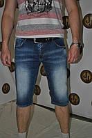 Шорты мужские стрейчевые светло синего цвета фирмы Davito