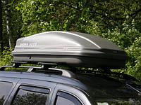 Багажный бокс на крышу авто Десна-Авто 480л серый 2-стороннее открытие, фото 1