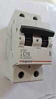 Автоматический выключатель RX3 4,5кА 16А 2п C (автомат) Legrand Легранд