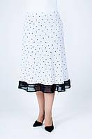 Женская летняя юбка Масло белая в горошек