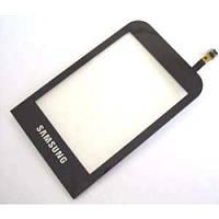 Сенсор сенсорное стекло Touchscreen samsung c3300 чёрный оригинал