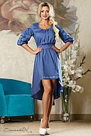 Красивое нарядное женское платье  2182 синий