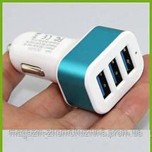 3-портовый USB-адаптер Smart Mini в авто, Автомобильное зарядное устройство, фото 3