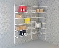 Угловая гардеробная система. Система хранения (консоль, стеллаж) 1800/600-20-015. ТМ Кольчуга (Kolch