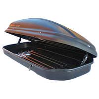 Багажный бокс на крышу авто Десна-Авто 480л черный 2-строннее открытие, фото 1
