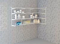 Угловая гардеробная система. Система хранения (консоль, стеллаж) 1800/600-10-016. ТМ Кольчуга (Kolch