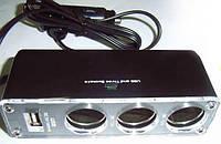 Тройник гнезда прикуривателя c USB WF-0096