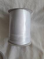 Лямівка атласна 15 мм, косая бейка, біла№ 01