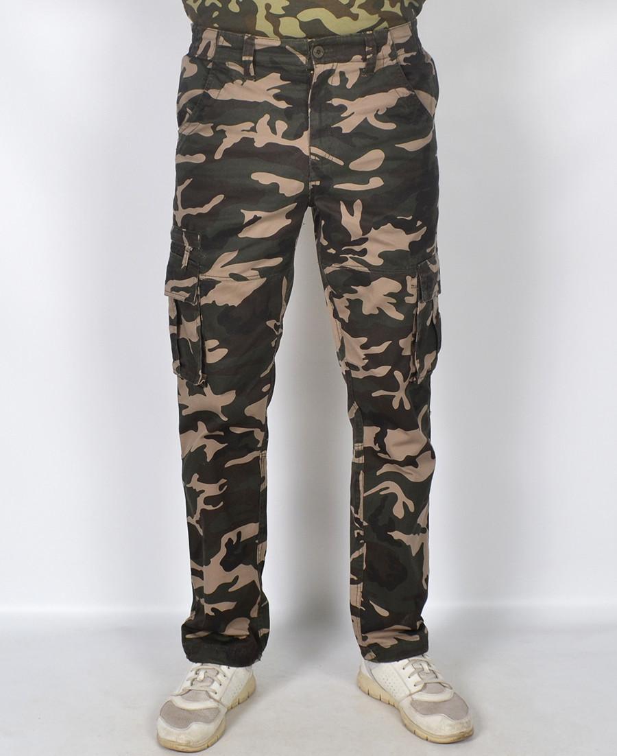 Камуфляжні чоловічі штани в стилі мілітарі