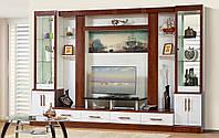 Гостиная, горка, стенка Онтарио 4 Общие габариты Ш - 3400 мм, В - 2300 мм, Г - 550 мм (Мир мебели)