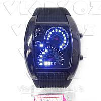 Бинарные LED часы Спидометр черные