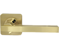 Ручка дверная на розетке Armadillo Orbis матовое золото (Китай)