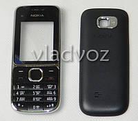 Корпус Nokia C2 01 черный без средней части + клавиатура class AAA