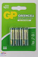 Батарейка GP GREENCELL 1.5V 24G-U4 сольова R03, AAA