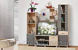 Гостиная, горка, стенка Виннер 1 Общие габариты Ш - 1780 мм, В - 1760 мм, Г - 440 мм (Мир мебели)