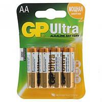 Батарейка GP ULTRA + ALKALINE 1.5V 15AUPHM-2UE4 лужна, LR6, AA
