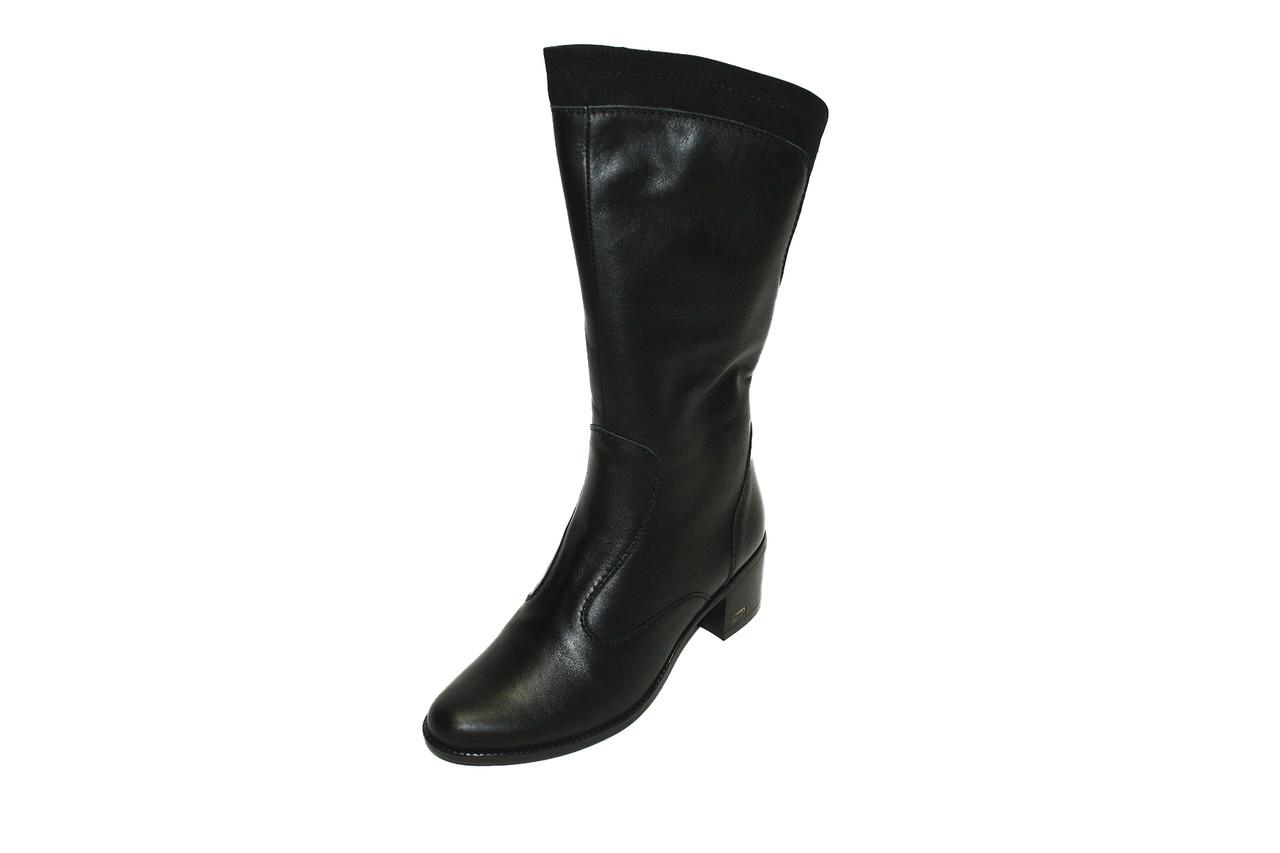 Сапоги женские еврозима Oscar Fur 1550чх Черный, фото 1