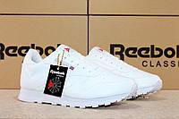 Рибок Классик белые Reebok Classic white мужские кроссовки реплика Вьетнам 41 - 26.5 см