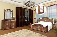 Спальня 4Д «Жасмин» орех | художественная печать Світ Меблів