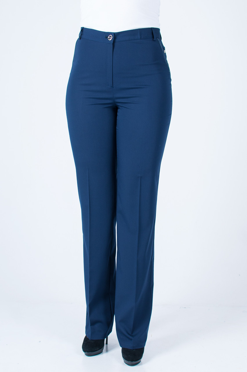 Женские брюки Стелла синего цвета