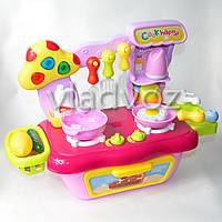 Детская пластиковая кухня для девочки, плита 2 камфорки Cook fun mini