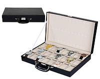 """Шкатулка для часов """"Мадлен"""" на  36 отделений в виде чемодана"""