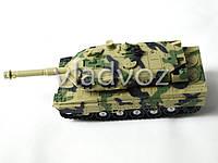 Игрушка танк игрушечный инерционный в коробке со звуком и световыми эффектами 24см.