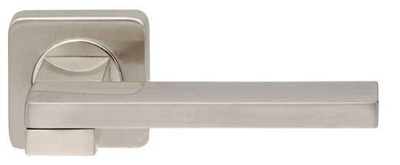 Ручка дверная на розетке Armadillo Sena матовый никель (Китай)